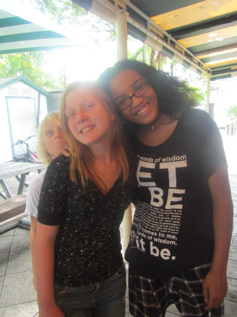Me and Keilyn and Finn photo-bombing us