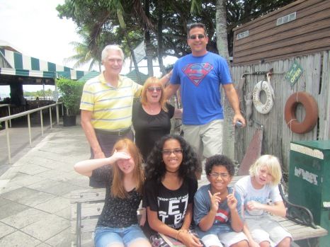 Mr. Kendall, my mom, Jason and the four of us kids
