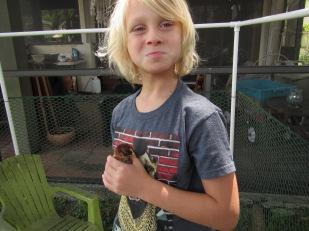 Finn with Peeps