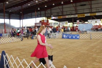 taking Rudy around the ring during the second part of the competition