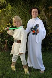 me and finn on halloween
