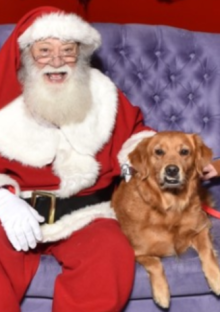 Sunny with Santa, yes, she was good, she always is.